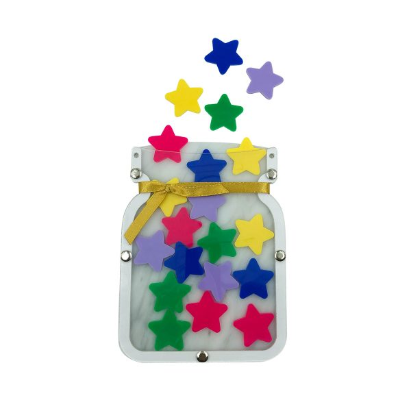 Star Jar Gold Ribbon
