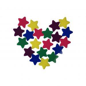 20 Pack Rainbow Stars